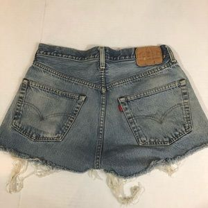 Vintage Levi's 501 Cutoffs, 5 Button, High Waist.